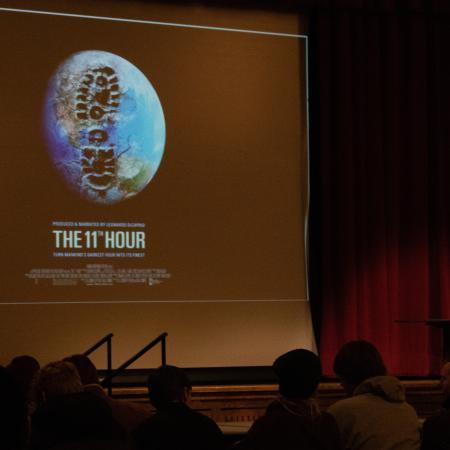 Xiuhtexcatl Martinez had a slide show with his presentation.