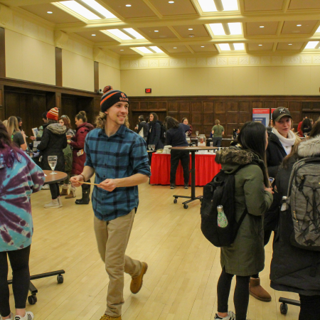Students enjoyed the events planned for the Symposium on Sustainability.