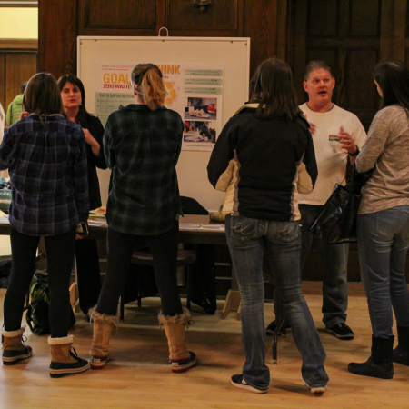 Education was a large part of the Symposium on Sustainability with tables presented by Student Organizations.