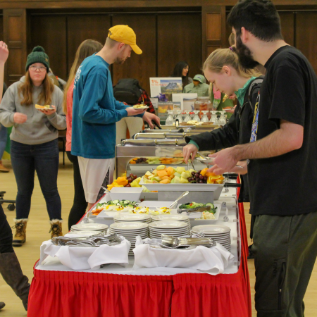Locally produced food items were a big hit at the Symposium on Sustainability.