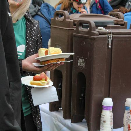 Coffee and Food are always a delight at the earth day event.