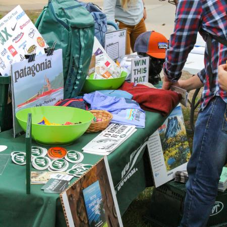 Jax Outdoor Displayed some of their sustainable products at the Earth Day event.