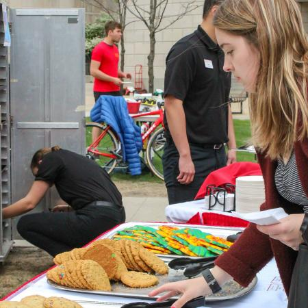 Cookies were also a hit at the earth day event.