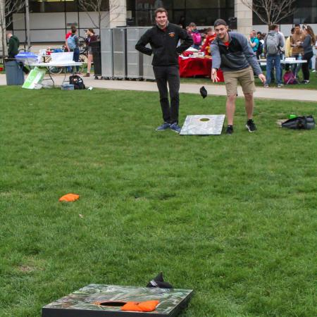 Lawn games were available to participants at the Celebration Event.