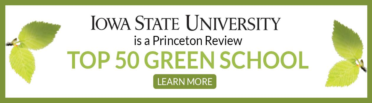 ISU Named 2019 Top 50 Green College by The Princeton Review
