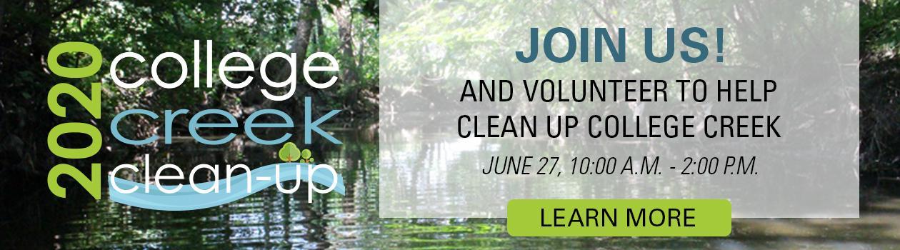 2020 College Creek Clean-Up