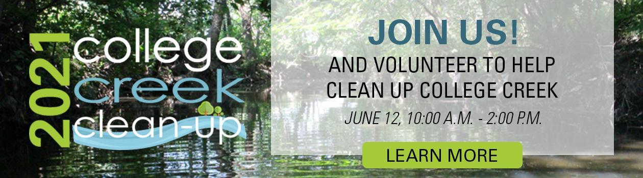 2021 College Creek Clean-Up