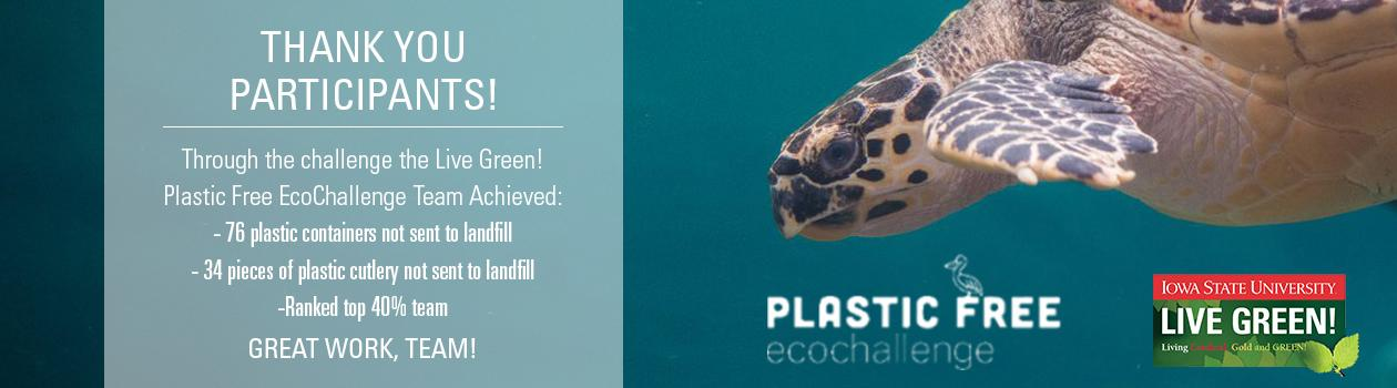 2020 Plastic Free EcoChallenge Thank You