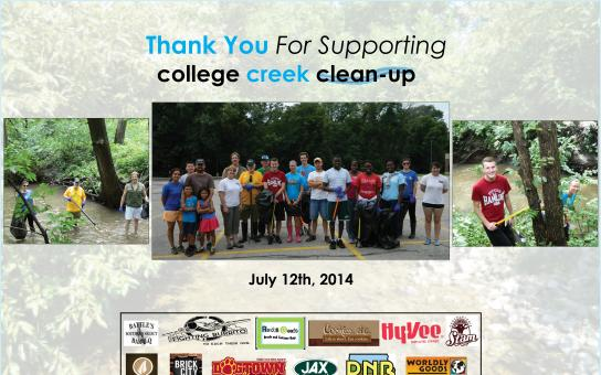 College Creek Clean-Up 2014