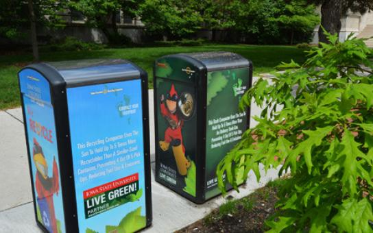 Solar-Powered Recycling Compactors